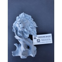 Lion on Wood busts