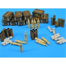 "British 4,5"" gun ammo set 1/35"