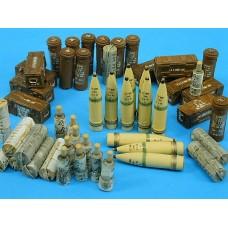 "brittish 7,2"" Howitzer ammo set 1/35"
