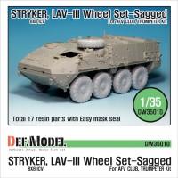 Stryker LAV-III wheel set sagged 1/35