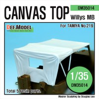 Canvas Top for Willys MB 4x4 truck 1/35