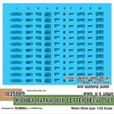WWII US Wooden Ration Box letter decal set (1/35) Decals 1/35