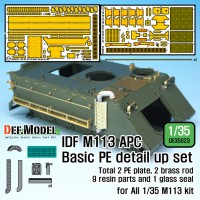 IDF M113 Side basket PE detail up set w/ Exhaust pipe (for 1/35 M113 kit ) 1/35