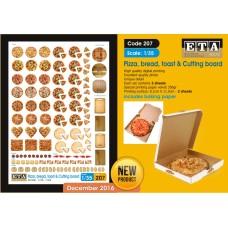 Pizza, bread, toast & cutting board 1/35