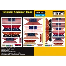Historical American flags 1/24