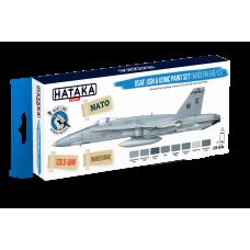 USAF,USN & USMC paint set (modern greys) Hataka blue