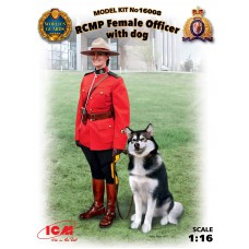 RCMP Female Officer with dog 1/16