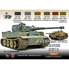 German WWII tanks set 2 Lifecolor