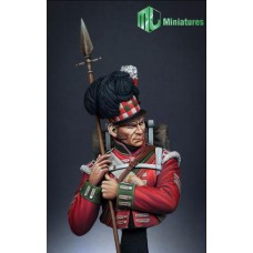 79th Cameron Highlander,Waterloo bustes