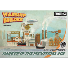 Harbor in the Industrial Age Warship builder - Cartoon