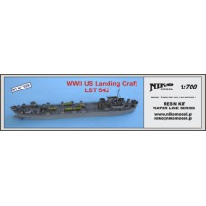 WWII US landing craft LST 542 1/700