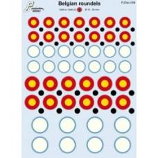 Belgian roundels Decals 1/72