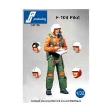 F-104 pilot standing 1/32
