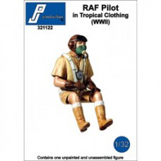 RAF pilot in tropical clothing seated 1/32