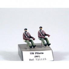US pilots seated in a/C 1/72