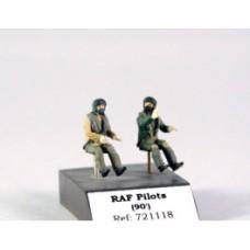 RAF pilots seated in a/c 1/72