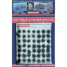 tuft of grass dark green grass and grass mats