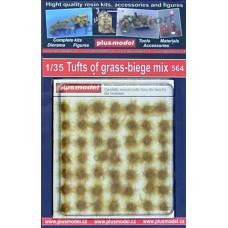tuft of grass beige grass and grass mats