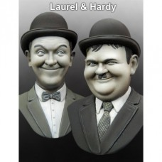 Laurel & Hardy busts