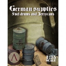 german supplies fuel drums and jerrycans 1/35