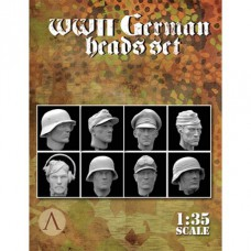 WWII German heads set 1/35