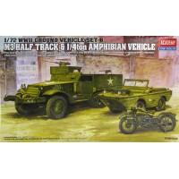 M3 Half Track & 1/4ton Amphibian Vehicle 1/72