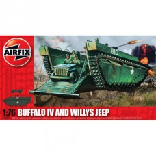 Buffalo Amphibian & Jeep 1/76