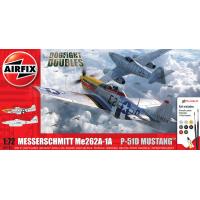 Messerschmitt Me262 & P-51D Mustang Dogfight Double 1/72