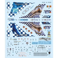 Belgian airforce F-16B Decals 1/48