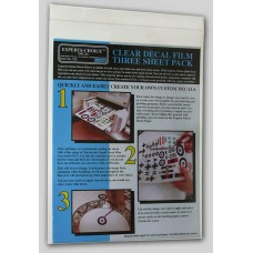 3 clear decalsheets laser Decals 1/72