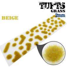 Grass tufts beige grass and grass mats