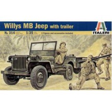 Willys MB with trailer 1/35