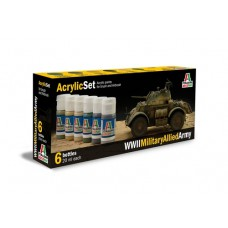 WWII Military Allied Army Italeri paint set