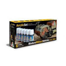 Modern military vehicles US/NATO Italeri paint set