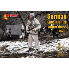 WWII German elite infantry winter dress 1/72