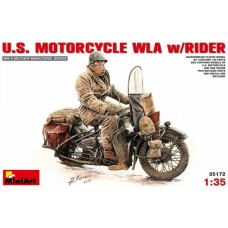 US motorcycle WLA with rider 1/35