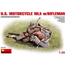 US motorcycle WLA with rifleman 1/35