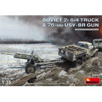 Soviet 2T 6x4 truck and 76mm 1/35