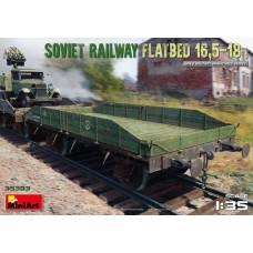 Soviet railway flatbed 16,5t 1/35