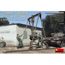 German tankmen & crane& engine 1/35