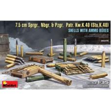 7.5cm Sprgr, Nbgr, & Pzgr. Patr. Kw.K.40 (Stu.K.40) 1/35
