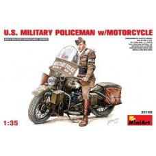 US military policeman With motorcycle 1/35