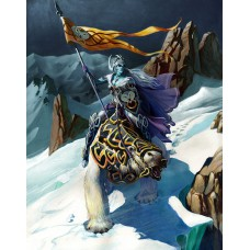 Veluthil Ice Elf Standardbearer Fantasy