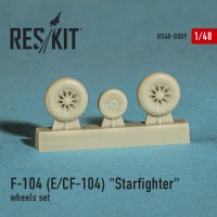 "Lockheed F-104 E, CF-104 ""Starfighter"" wheels set  1/48"