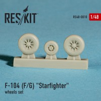 "Lockheed F-104 F/G""Starfighter"" wheels set  1/48"