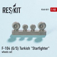 "Lockheed F-104 (G/S) Turkish ""Starfighter"" wheels set  1/48"