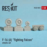 "General Dynamics F-16 A ""Fighting Falcon"" wheels set  1/48"