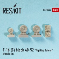 "General Dynamics F-16 (C) block 40-52 ""Fighting Falcon"" wheels set  1/48"