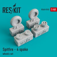 Spitfire - 4 spoke wheels set 1/48