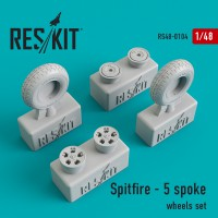 Spitfire - 5 spoke wheels set 1/48
